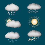 Icon set weather Stock Images