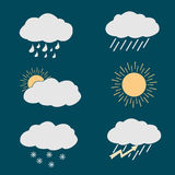 Icon set weather Royalty Free Stock Images