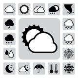 Icon set of weather ,Illustration Stock Photo