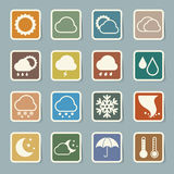 Icon set of weather ,Illustration Royalty Free Stock Images