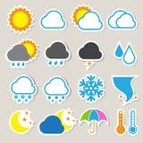 Icon set of weather ,Illustration Stock Image