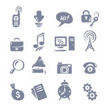 Icon Set for Web. Vector illustration - a set of icons on the theme Computers and Communications stock illustration