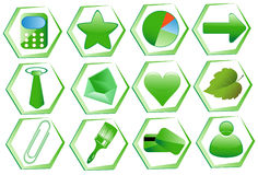 Icon Set for Web Applications Stock Photography