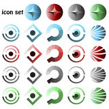 Icon set, web buttons Stock Photo