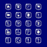 Icon set for web design.  Royalty Free Stock Photography