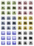 Icon set.  Web design elements. For the site Royalty Free Stock Image