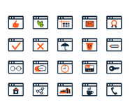 Icon set. Web development and SEO. Flat design Stock Photography