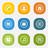 Icon set of the web elements Royalty Free Stock Photos