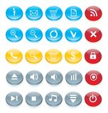 Icon set for web interface Royalty Free Stock Images