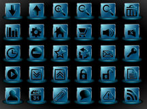 Icon set for web interface Royalty Free Stock Image
