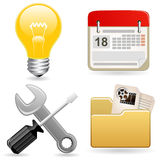 Icon set for web site Royalty Free Stock Photo