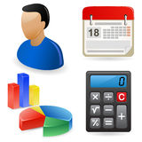 Icon set for web site Royalty Free Stock Images