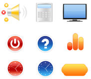 Icon set for web site Royalty Free Stock Photography