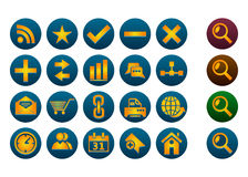 Icon set. Set icon for the web site Royalty Free Stock Photography