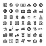 Icon set for website and app. Banking and merchant universal icons. Icon set for website app. Vector illustration Royalty Free Stock Photos