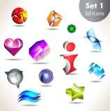 Icon set for wesite, info graphic Stock Photos