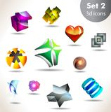 Icon set for wesite, info graphic Royalty Free Stock Image