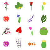 Icon set on a white background Stock Images