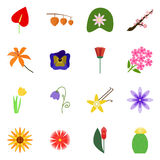 Icon set on a white background. Icons flower. Vector icon flower Stock Image