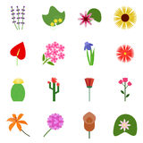 Icon set on a white background. Royalty Free Stock Photos