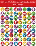Icon Set Work, Internet, Web and Business I. With 72  icons for the creative use in web an graphic design Royalty Free Stock Photos