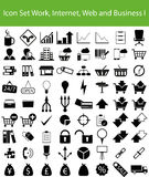 Icon Set Work, Internet, Web and Business I. With 72 icons for different purchase Royalty Free Stock Photos