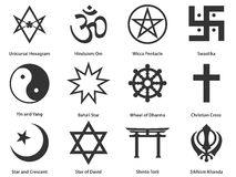 Icon set of world Religious symbols Stock Images