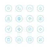 Icon sets with circle stock photos