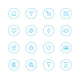 Icon sets with circle royalty free stock photography