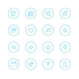 Icon sets with circle Stock Images