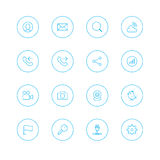 Icon sets with circle Royalty Free Stock Photo
