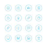 Icon sets with circle stock image