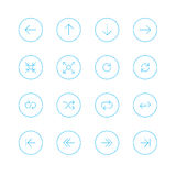 Icon sets with circle stock photography