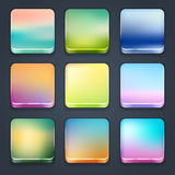 Icon sets. For mobile application interface. Buttons Royalty Free Stock Photo