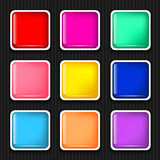 Icon sets. For mobile application interface. Buttons Royalty Free Stock Images