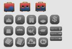 Icon sets About travelling. Icon sets design for application, website, Most of the icon related to travelling Stock Images