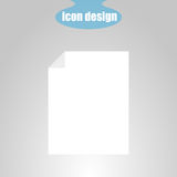 Icon sheet of paper on a gray background. Vector illustration Stock Photo