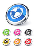 Icon shield. Clipart illustration design Stock Photos