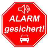 Icon shield for alarm Stock Image