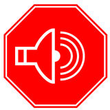 Icon shield for alarm Stock Photos