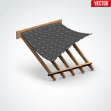 Icon shingles roofing cover Royalty Free Stock Photo