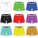 Icon of shorts in different colors. Raster Royalty Free Stock Images