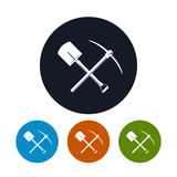 Icon Shovel and Pickaxe Royalty Free Stock Photography