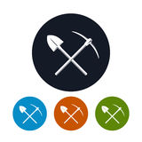 Icon Shovel and Pickaxe Royalty Free Stock Image