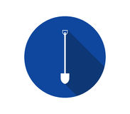 Icon shovel to dig. On a white background Royalty Free Stock Photography
