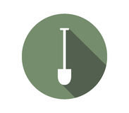 Icon shovel to dig. On a white background Stock Image