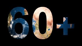 Icon sign logo Earth Hour 60 revealing turning Earth globe. 4K stock video