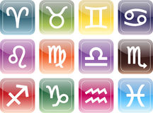 Icon: signs of the zodiac Royalty Free Stock Image