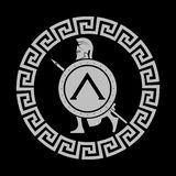 Icon silhouette of the Spartan soldier Royalty Free Stock Photos