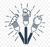 Icon silhouette of vegetables Royalty Free Stock Image